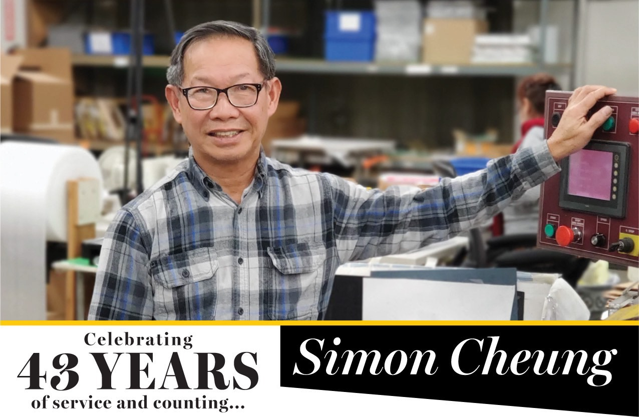 Simon Cheung — Celebrating 43-years of Service at Steven Label!